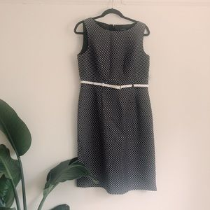 Tahari Arthur S. Levine Black & White Dress